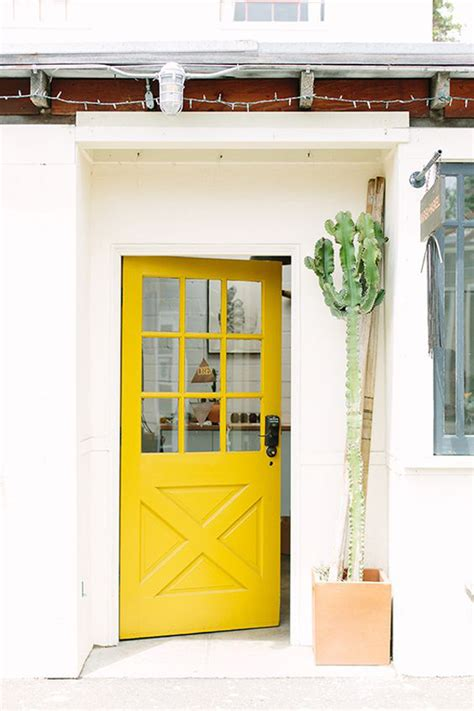 bright yellow door 25 eclectic front doors with pastel colors home design