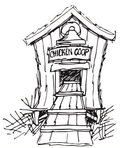 coloring page chicken coop chicken coop 726 01