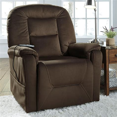 reclining sofa with massage and heat signature design by ashley samir power lift recliner with