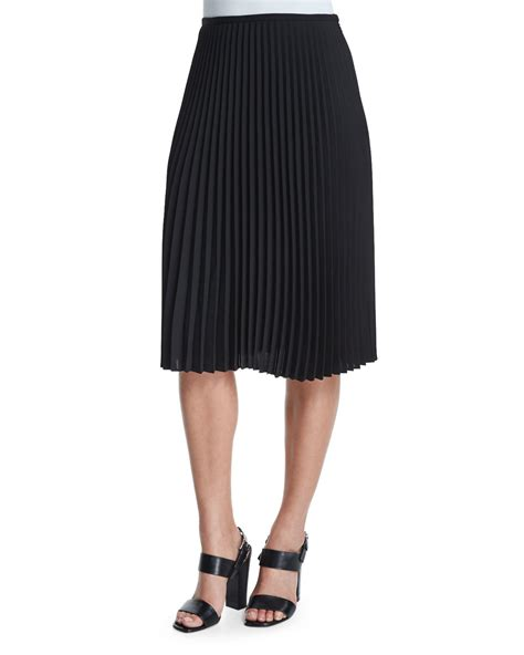 michael kors micro pleated a line skirt in black lyst