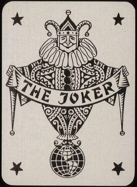 wild card tattoo 1925 german joker faites vos jeux joker card