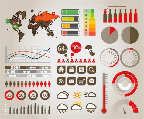 data graphics charts vector material