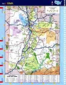 utah printable map map of utah detailed road map of the state of utah