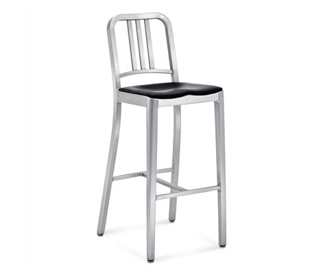 emeco bar stools navy 174 barstool seat pad bar stools from emeco architonic