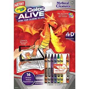 color alive crayola crayola color alive mythical creatures crayola toys quot r quot us