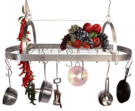 30 Inch Pot Rack 30 Inch Oval Hanging Stainless Steel Pot Rack With Grid