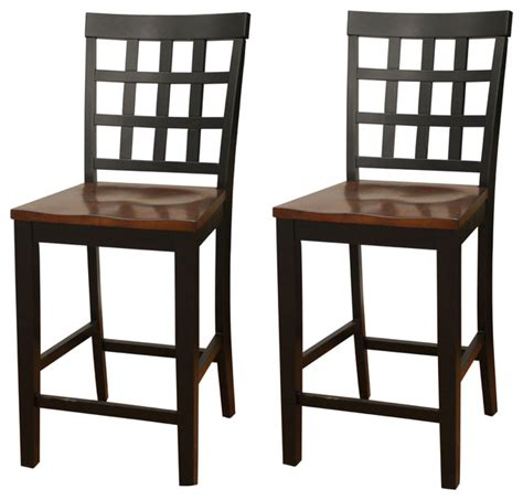 75 off bamboo and metal bar stools chairs american heritage mia square block back counter height