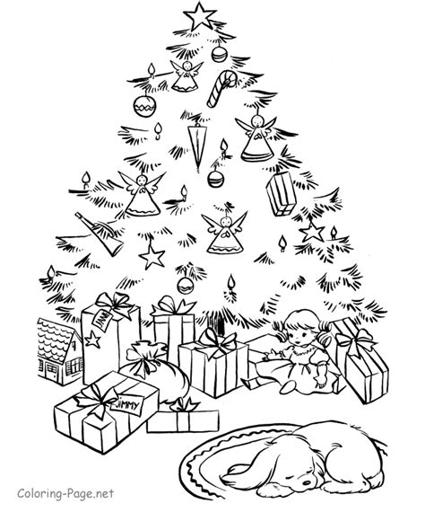 christmas coloring pages printable christmas tree