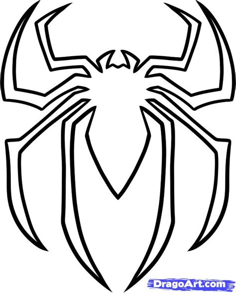 how to draw the spiderman logo spiderman symbol step by