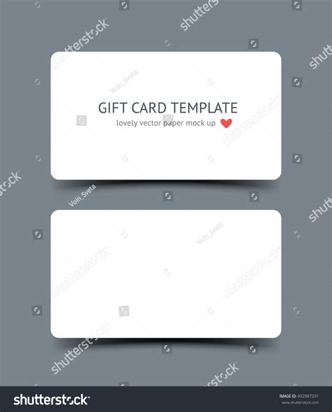 business card with rounded corners template business card template mock corners stock vector