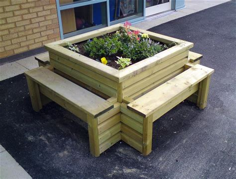 benches for school playgrounds benefits planter benches bring to your playground