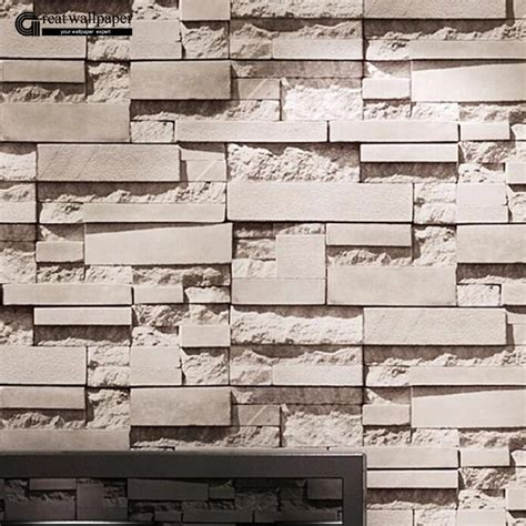 brick wallpaper grey living room aliexpress com buy great wall brick wall background
