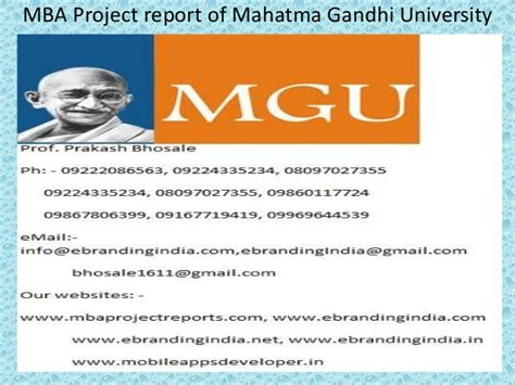 Project Management Software Report Mba 6931 by Mba Project Report Of Mahatma Gandhi