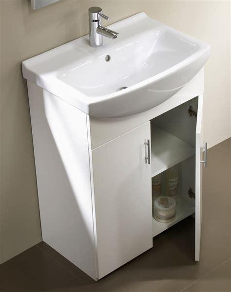 Bathroom Vanity Units Suppliers Tavistock Opal 500mm White Floorstanding Unit And Basin Opvu50w Opb50w