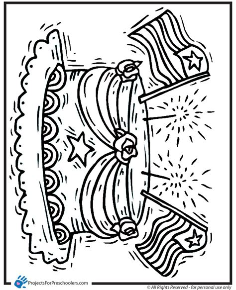 printable coloring pages presidents day printable presidents day birthday cake coloring page from