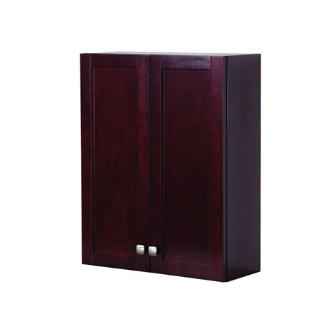Cherry Bathroom Storage Cabinet St Paul Sydney 22 In W X 28 In H X 7 5 8 In D The Toilet Bathroom Storage Wall Cabinet