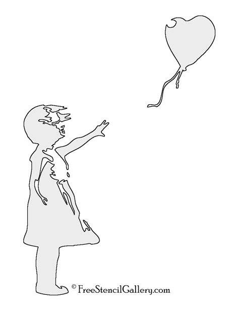 banksy balloon girl stencil free stencil gallery
