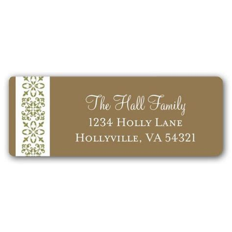 decorative printable address labels decorative gold holiday return address labels paperstyle