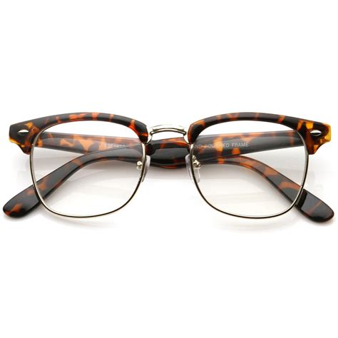 vintage classic clubmaster clear lens glasses zerouv