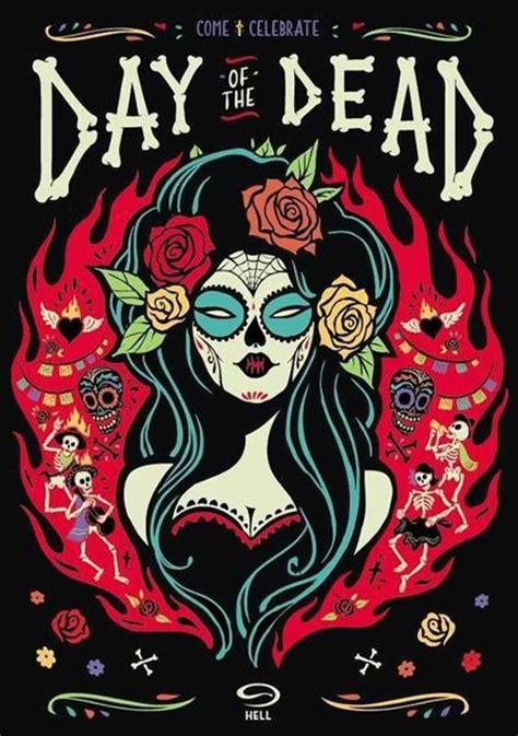 day of the dead skull reaper psychedelic hippie art
