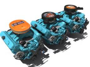 383 Chrysler Engine 3d Chrysler V8 Engine 383