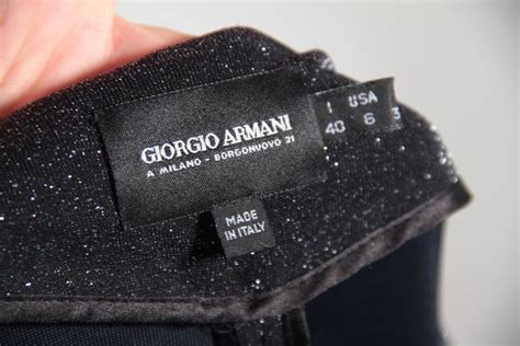Labels For Armani by Giorgio Armani Black Label Lurex Suit Dress Blazer