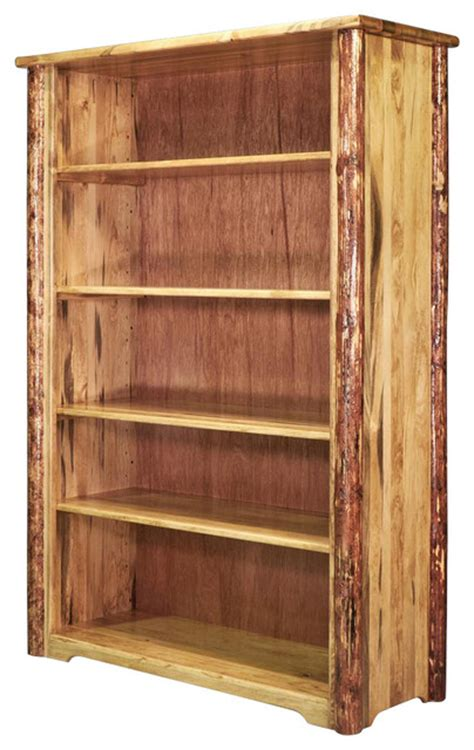 63 in log bookcase contemporary bookcases by shopladder