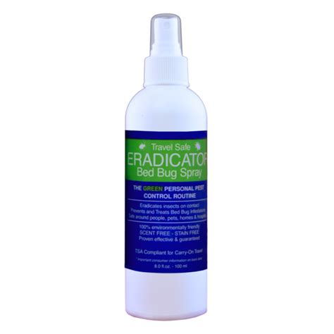 eradicator bed bug spray travel safe bed bug eradicator spray non toxic and ready