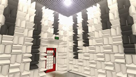 soundproof room sound proof room anechoic chamber stock footage