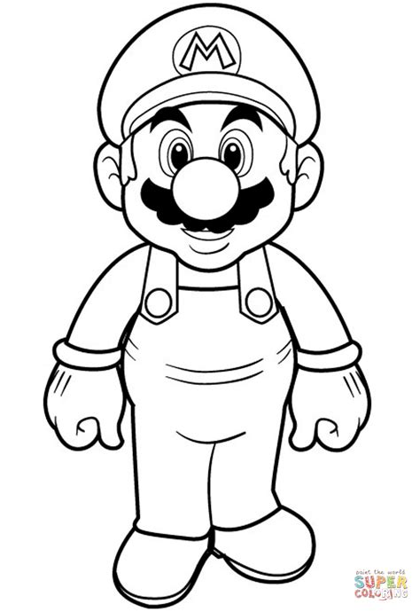 coloring page mario super mario coloring page free printable coloring pages