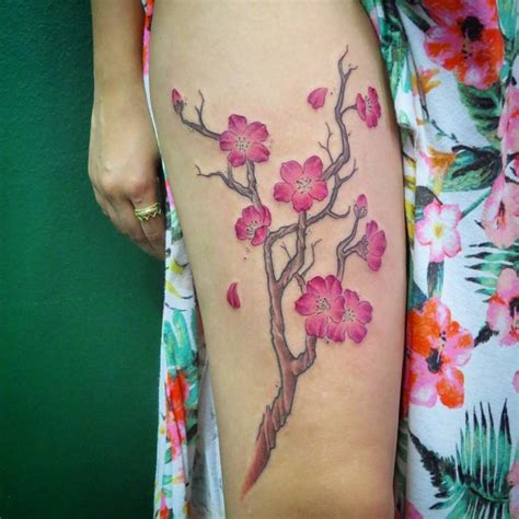 75 Best Japanese Cherry Blossom Tattoo Designs Japanese Cherry Blossom Side Tattoos