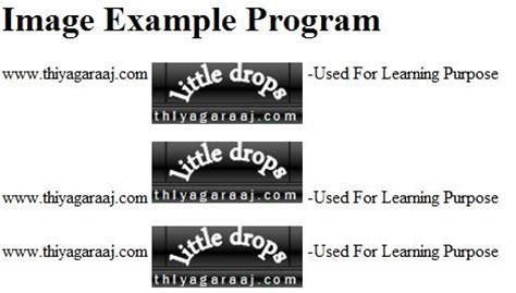 html div tag exles html image align