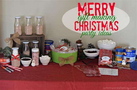 christmas gift making party ideas a crafty spoonful