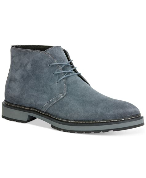 calvin klein agdin suede boots in gray for lyst