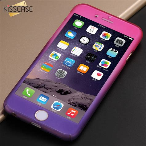 Iphone 6 6s 360 Gradient Rubber Hardcase Casing Biru Kuning kisscase gradient color 360 degree for iphone 7 6 6s luxury plastic phone