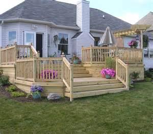 custom wood deck by elyria fence