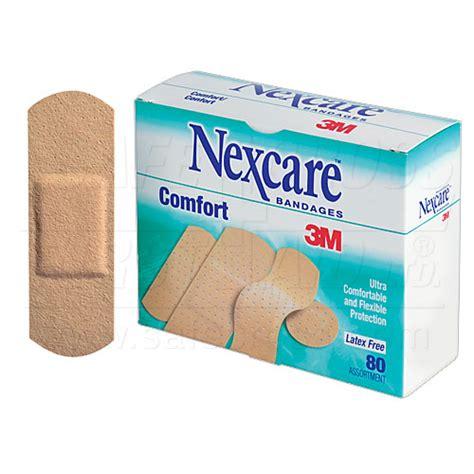 nexcare comfort bandages nexcare comfort bandages assorted sizes 80 box item