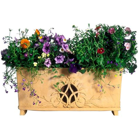 Garden Series Flowersoap garden series by rockustics planter provides soft and a place for petunias to grow