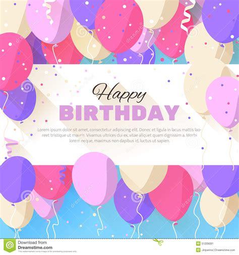 happy birthday flat design happy birthday greeting card in a flat style stock