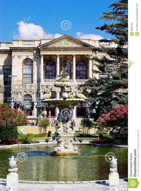 Garden Of Turkey In Garden Of Dolma Bahche Palace Turkey Royalty