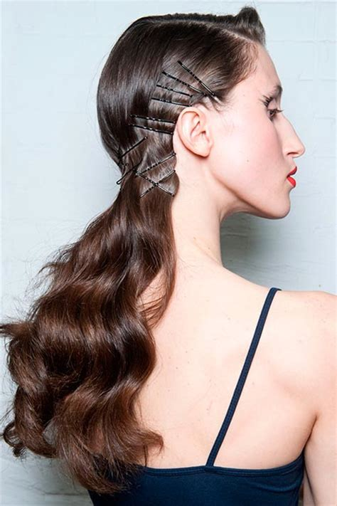 hairstyles for straight hair with bobby pins image gallery hairstyles with hair pins