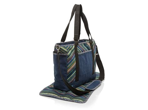 toms bag stripe canvas in blue lyst