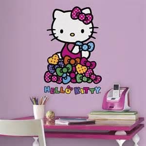 Hello Kitty Wall Decor Stickers Hello Kitty Bows Giant Wall Decals Polka Dots Room Decor