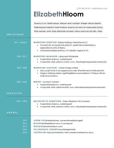 modern resume templates free 15 modern design resume templates you can use today