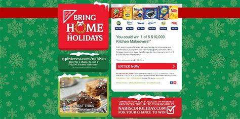 Holiday Sweepstakes 2015 - nabiscoholiday com nabisco 2015 bring home the holidays sweepstakes win a 10 000