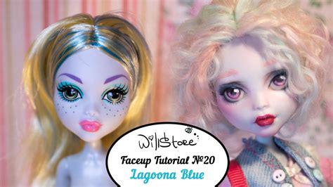 ooak doll tutorial faceup tutorial 20 lagoona blue ooak high cutom