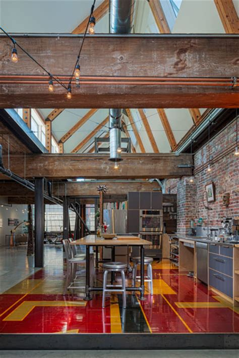 industrial loft in seattle functionally blending materials industrial and green design collide in this capitol hill