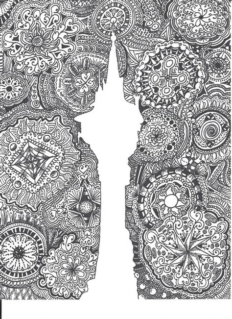 pattern drawing sheet tangled rapunzel tower zentangle made by me pinterest