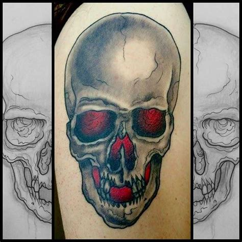 dark matter tattoo skull by worth