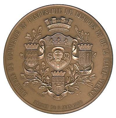 chambre du commerce limoges medailles jetons limoges chambre de commerce